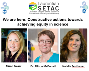 We are here: Constructive actions towards achieving equity in science (Wednesday, February 21, 2018) @ Emma's Back Porch | Burlington | Ontario | Canada