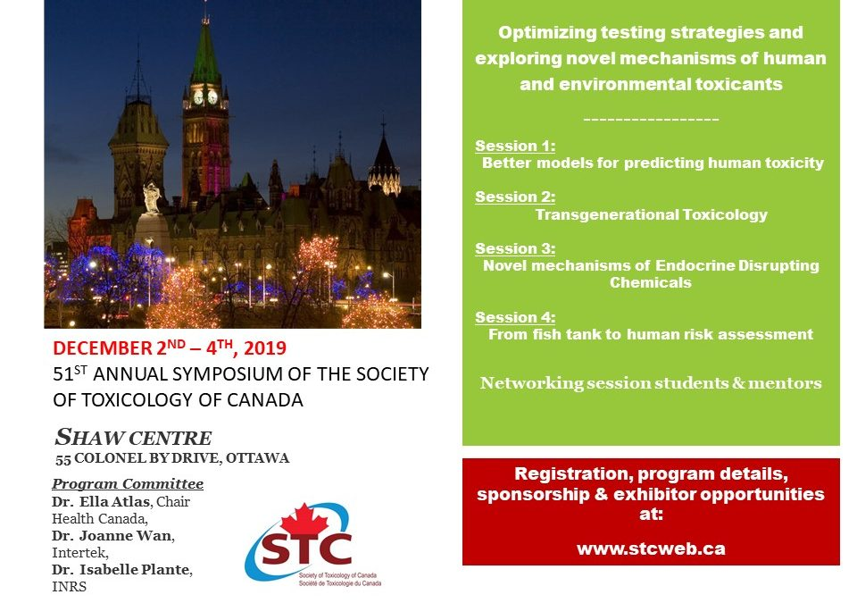 51st Annual Symposium of the Society of Toxicology of Canada